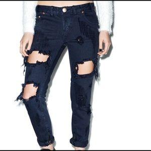 One Teaspoon London Trashed Freebird Jeans